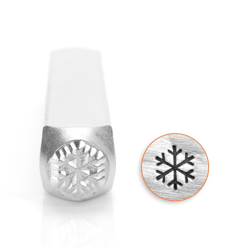 ImpressArt Metal Punch Stamp, Snowflake 6mm (1/4 Inch), 1 Piece, Steel