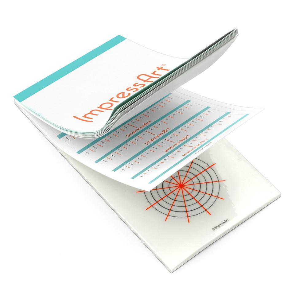 ImpressArt Stamp Guides Booklet, Transparent Grids for Spacing Metal Punch Designs