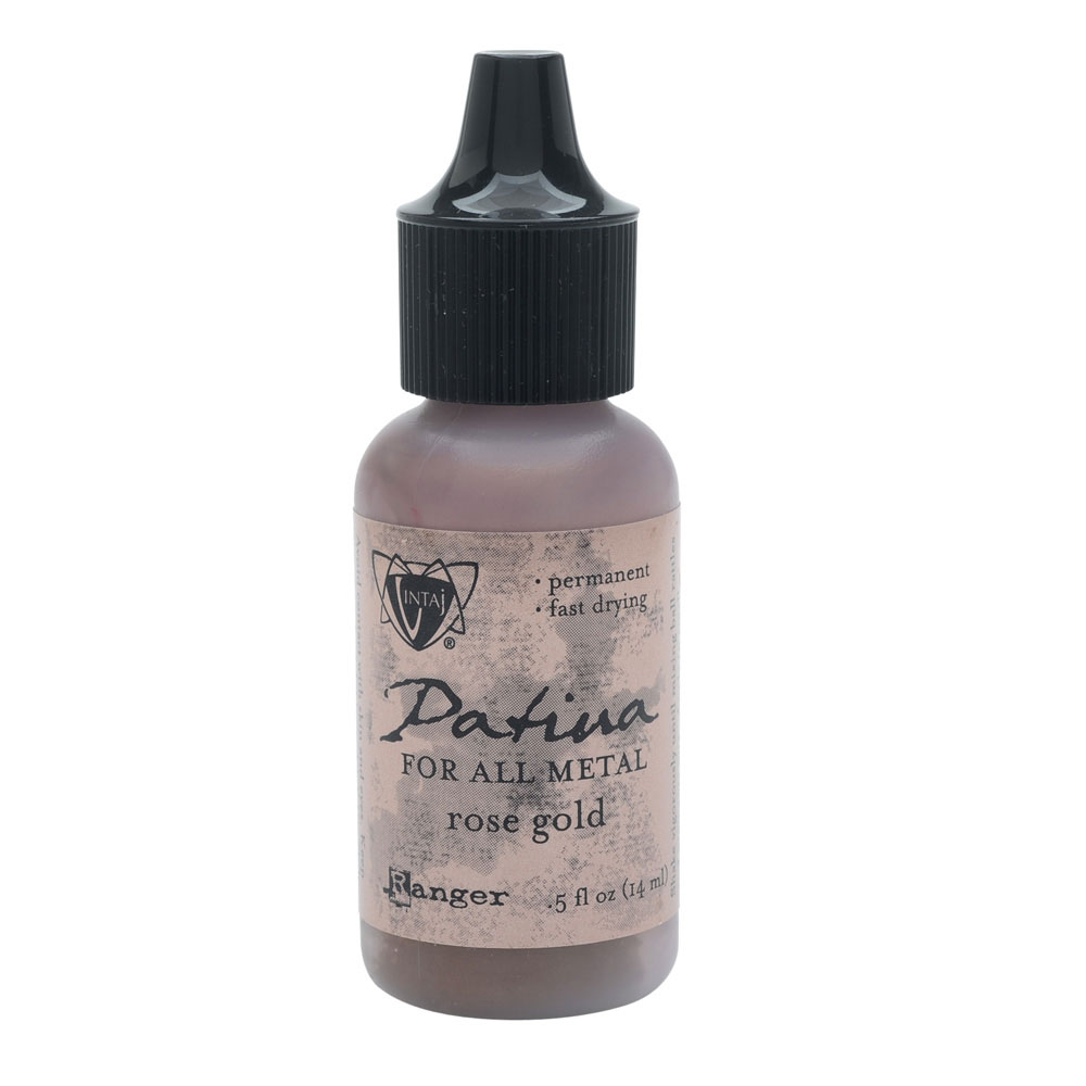 Vintaj Patina, Opaque Permanent Ink For Metal, 0.5 Ounce Bottle, Rose Gold