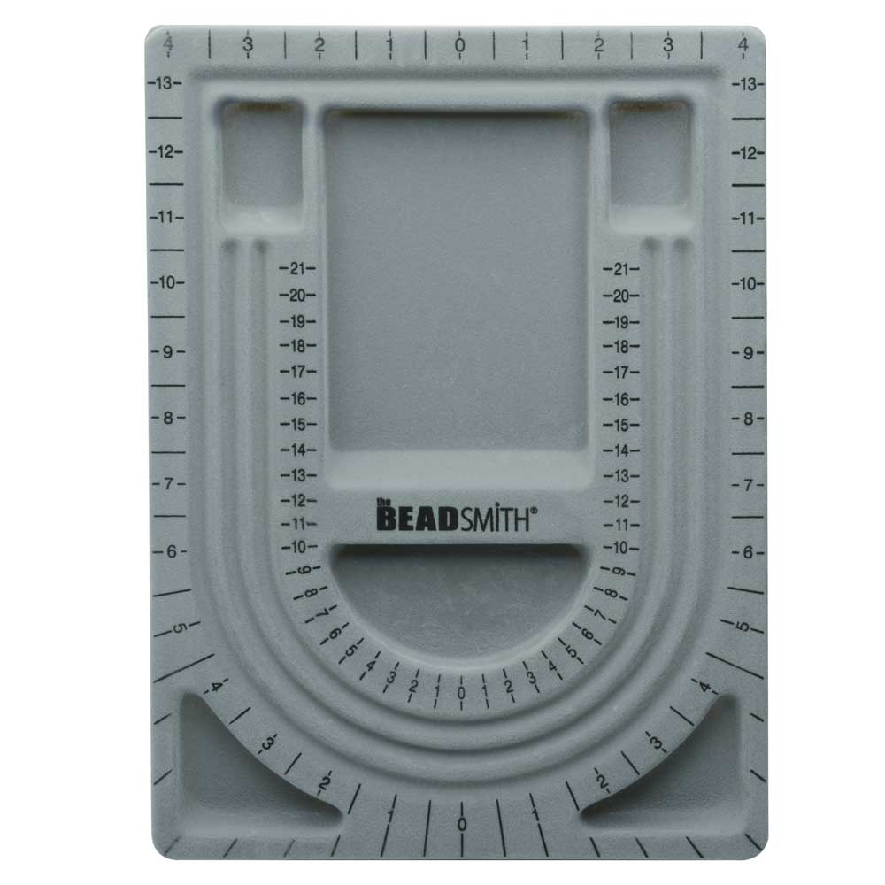 The Beadsmith Bead Design Beading Board Gray Flock 9x13 Inches