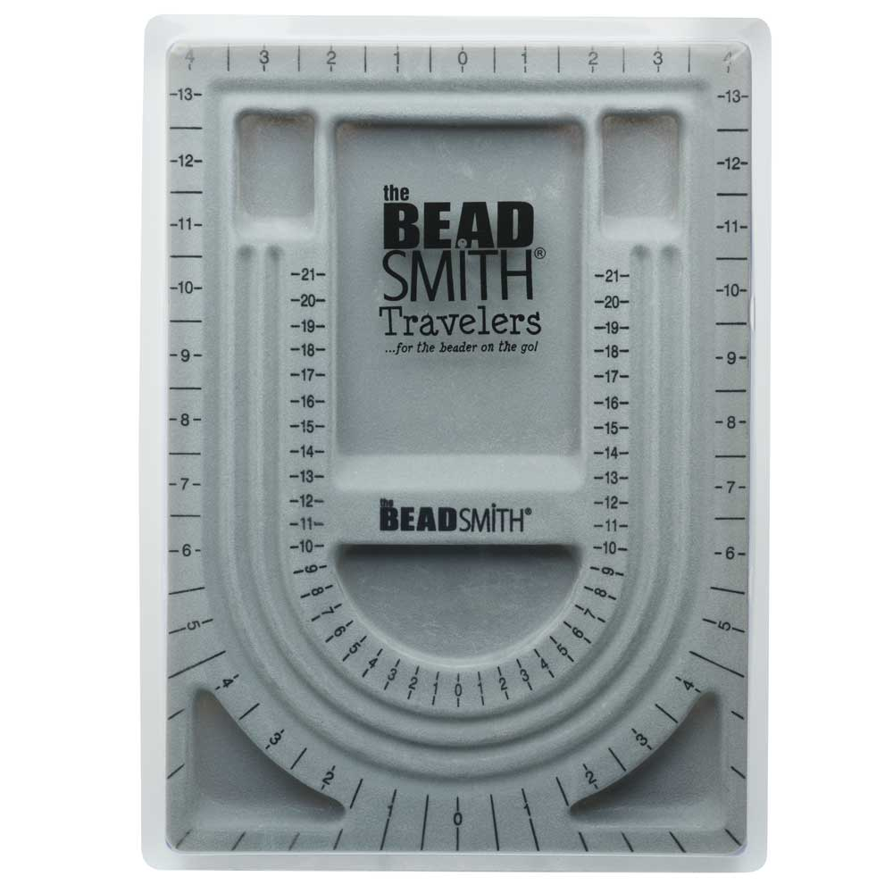 The Beadsmith Bead Design Beading Board Gray Flock With Lid 9x13 Inches