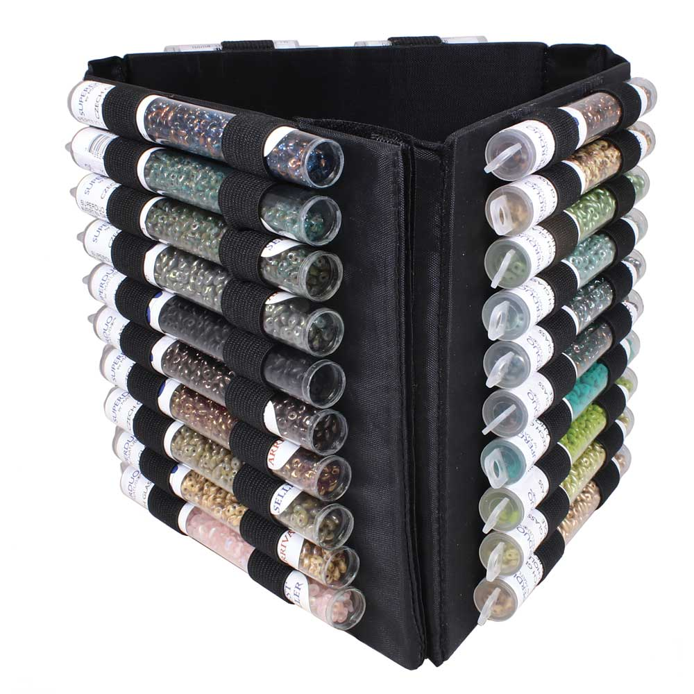 The Beadsmith Mini Bead Tube Tower Organizer For Seed Bead Tubes Or Tools