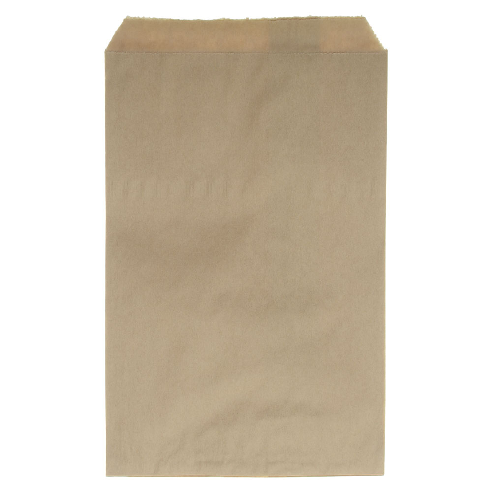 Paper Gift Bags, for Jewelry and Crafts 9 x 6 Inches, Kraft Brown, 100 Pieces