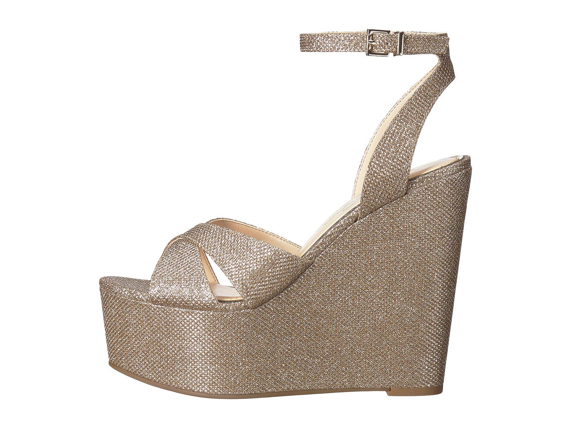 9b94c5fb44c Jessica Simpson Women s PRENA Wedge Sandal GOLD