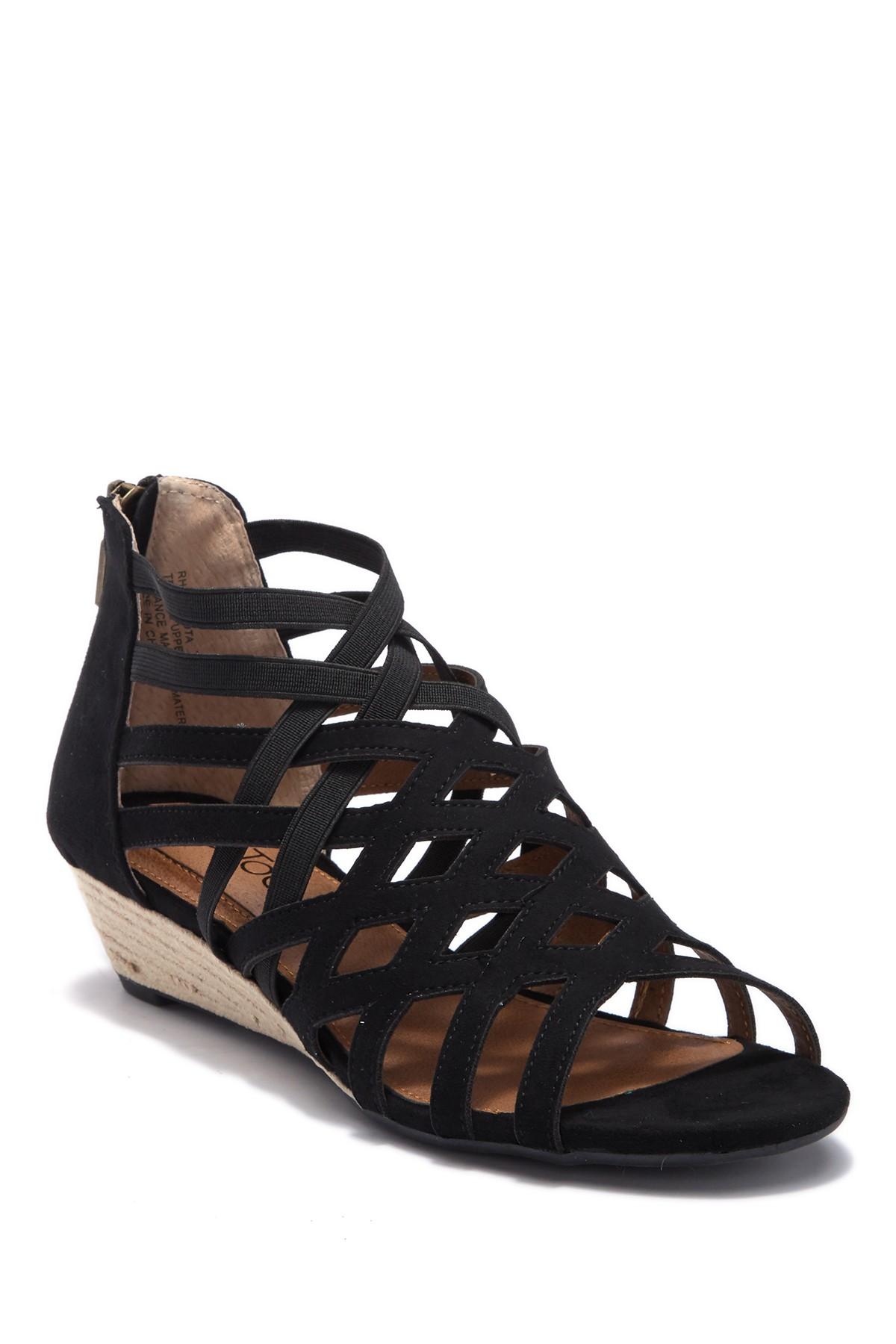 classic shoes huge inventory entire collection Me Too Mujer Carlota Lattice Sandalia Gladiador Negro Gamuza | eBay