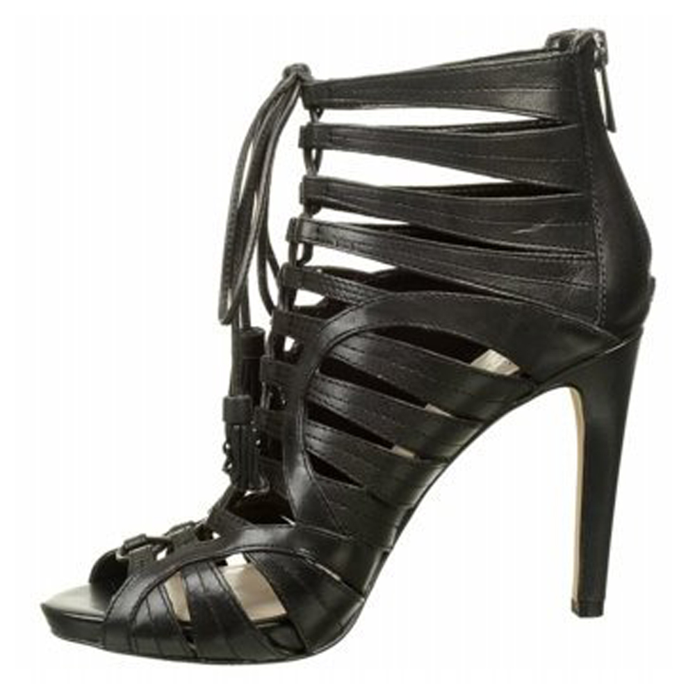 Vince Camuto Narrital Strappy Lace Up Gladiator Heel Black