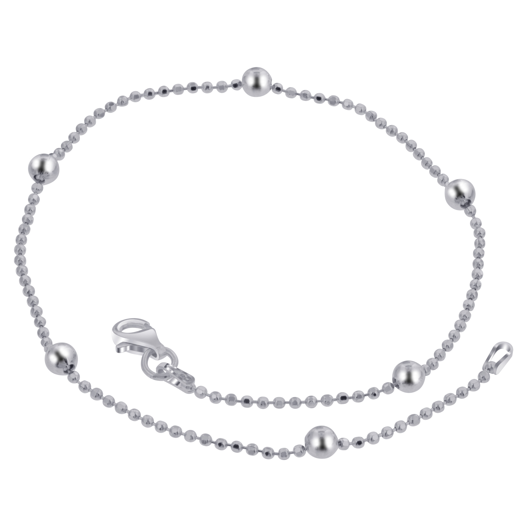 925 Sterling Silver 3mm Chain Anklet Ankle Bracelet with Lobster Clasp #BDA030