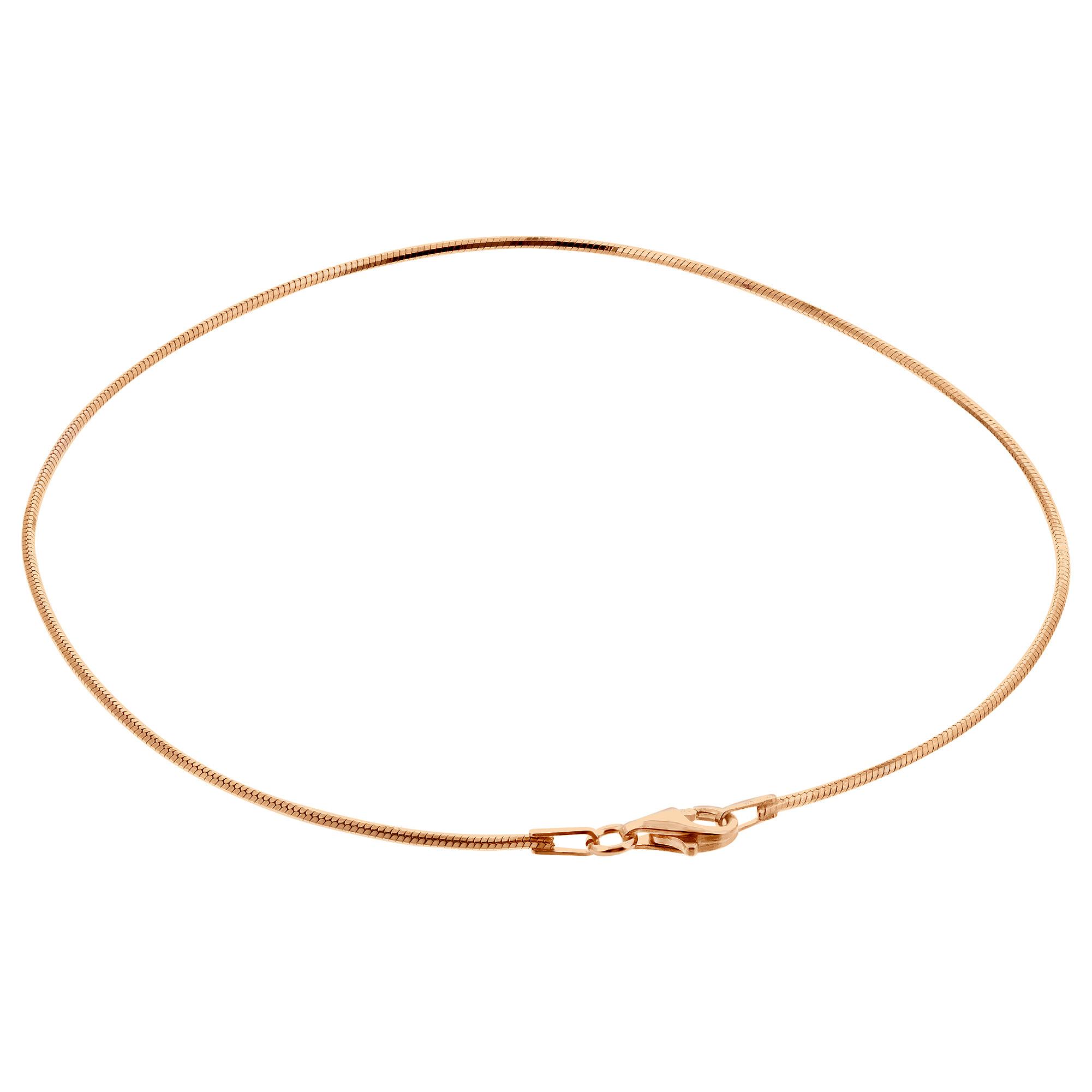Vermeil Rose-gold Over S ANKLET 7,8,9,10,11 inches BRACELET Silver 1mm Snake