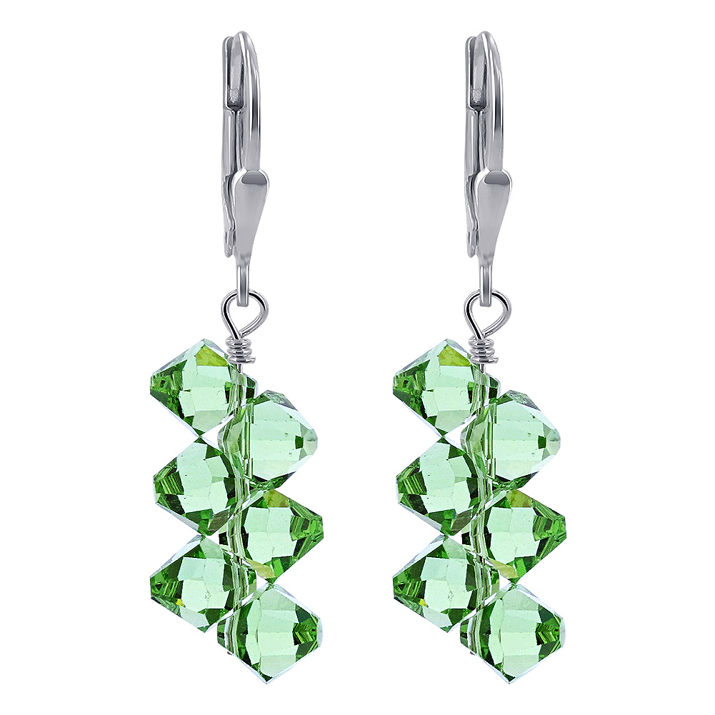 Made-with-Swarovski-Elements-Crystal-Drop-Sterling-Silver-Earrings thumbnail 27