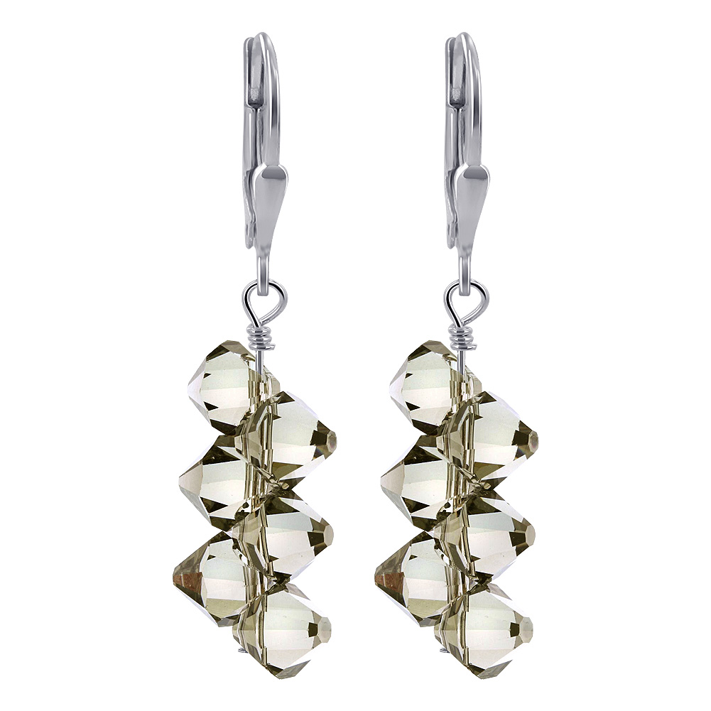 Made-with-Swarovski-Elements-Crystal-Drop-Sterling-Silver-Earrings thumbnail 24