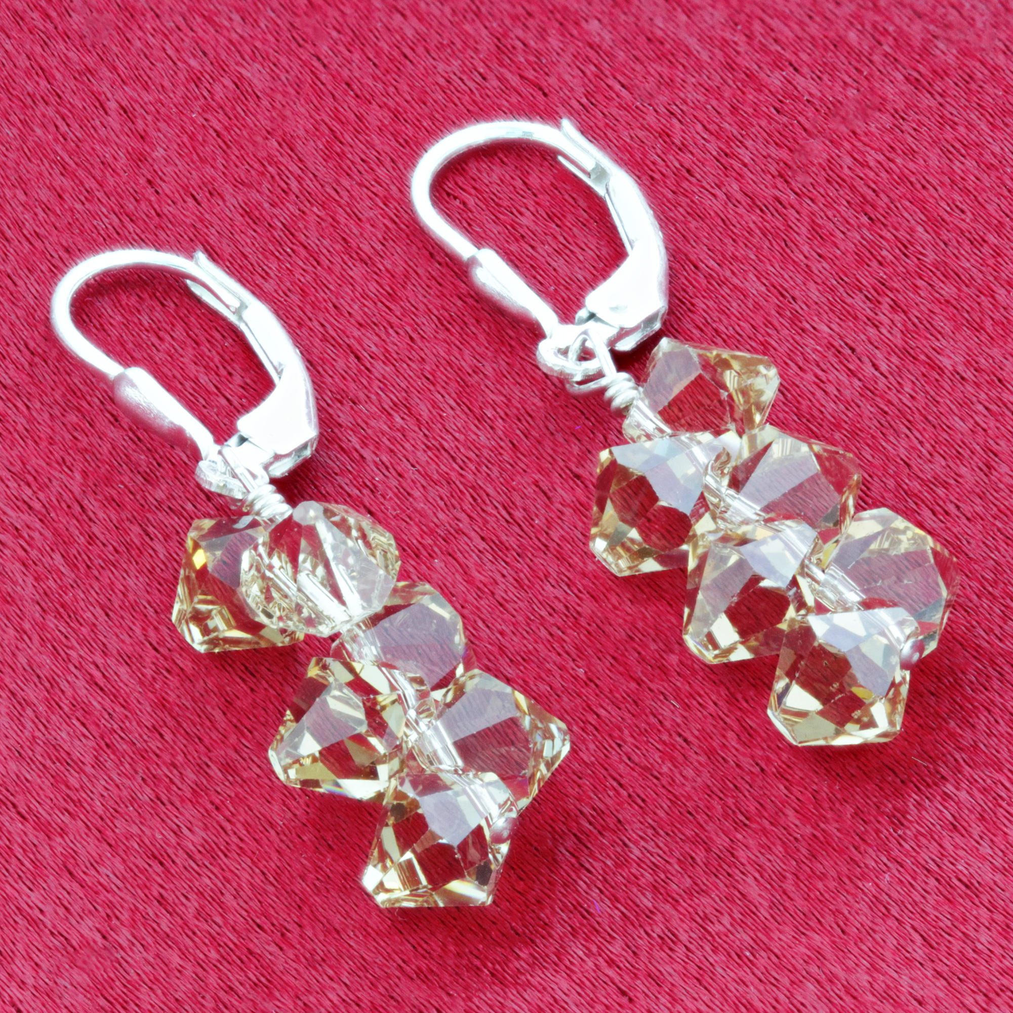 Made-with-Swarovski-Elements-Crystal-Drop-Sterling-Silver-Earrings thumbnail 13