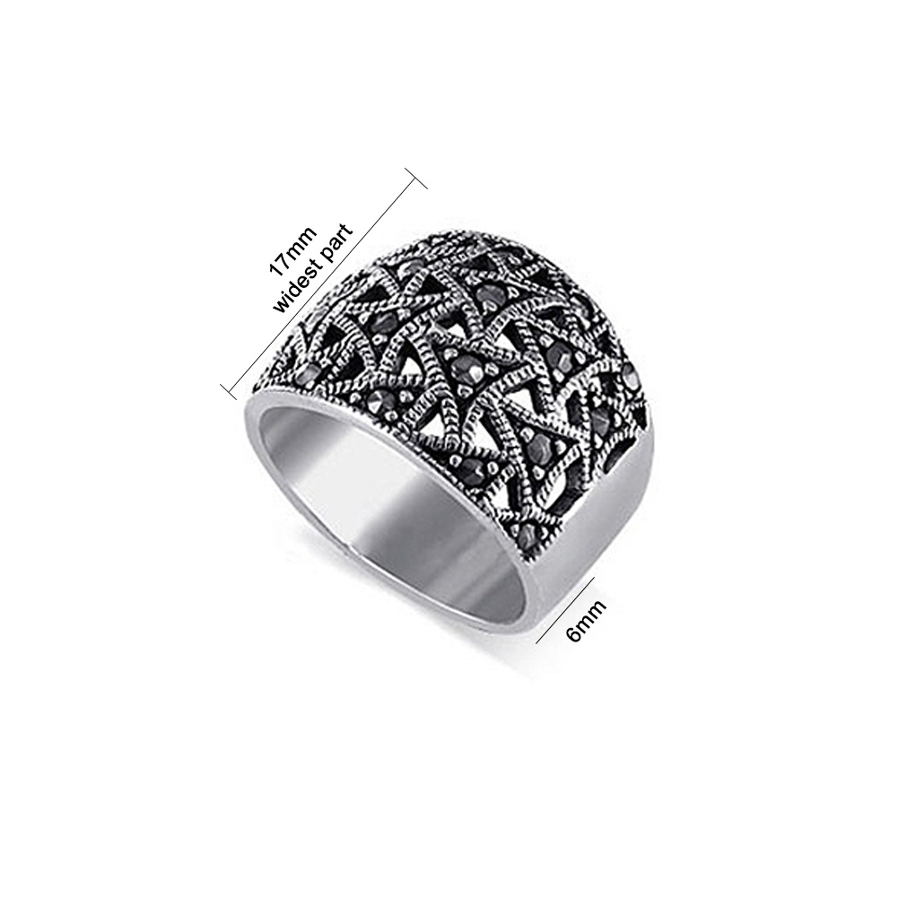 Buy For Less 925 Sterling Silver Beaded Filigree Design Ring