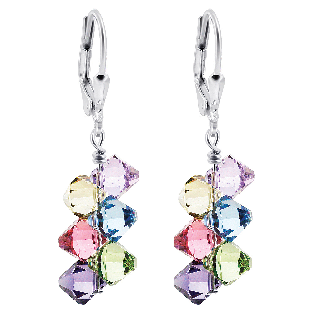 Made-with-Swarovski-Elements-Crystal-Drop-Sterling-Silver-Earrings thumbnail 35