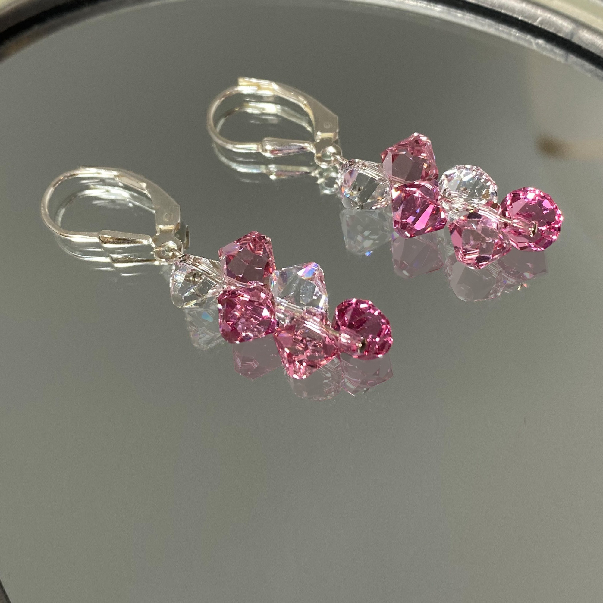 Made-with-Swarovski-Elements-Crystal-Drop-Sterling-Silver-Earrings thumbnail 22