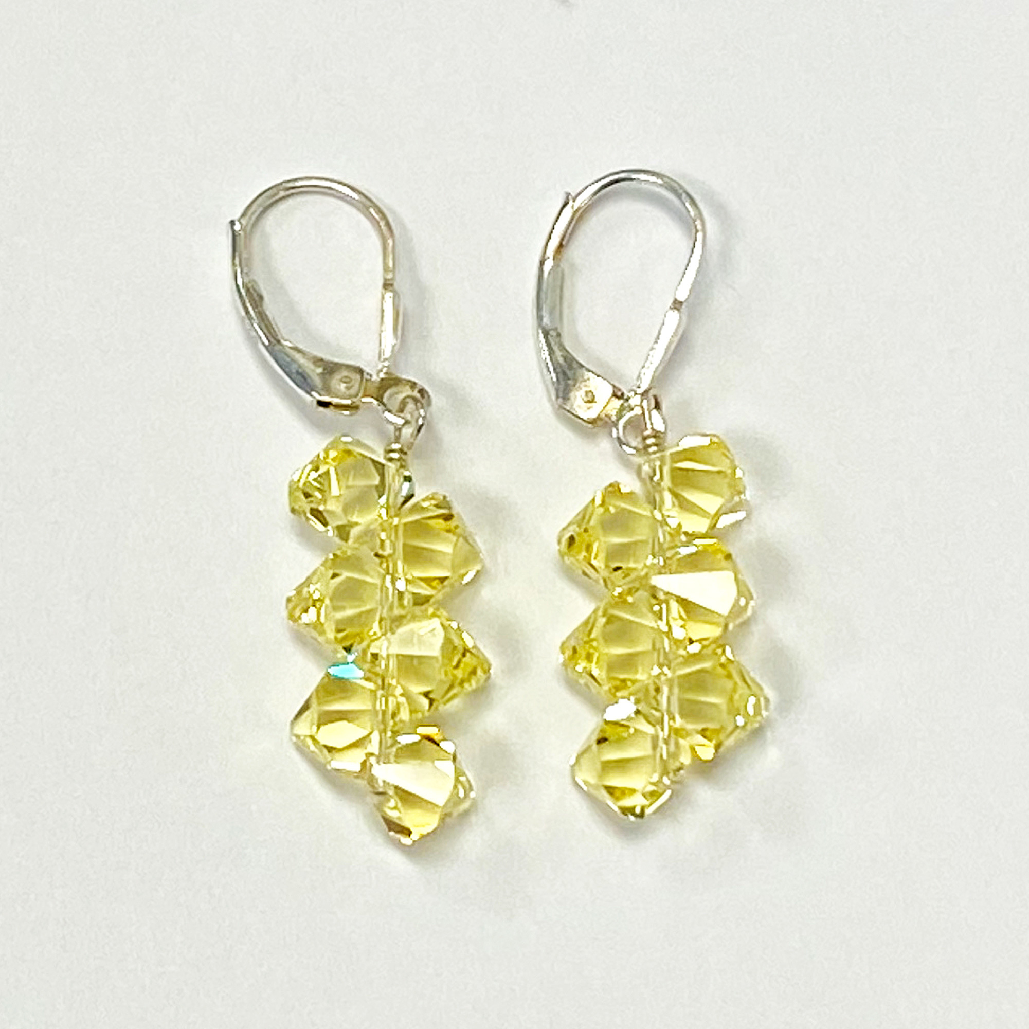 Made-with-Swarovski-Elements-Crystal-Drop-Sterling-Silver-Earrings thumbnail 47
