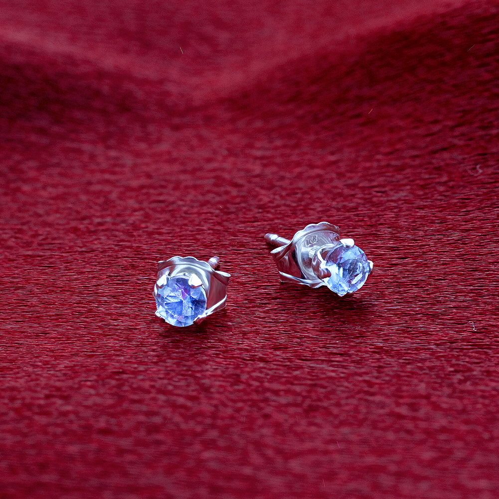 New-925-Sterling-Silver-Cubic-Zirconia-Prong-Set-Round-CZ-Stud-Earrings thumbnail 7