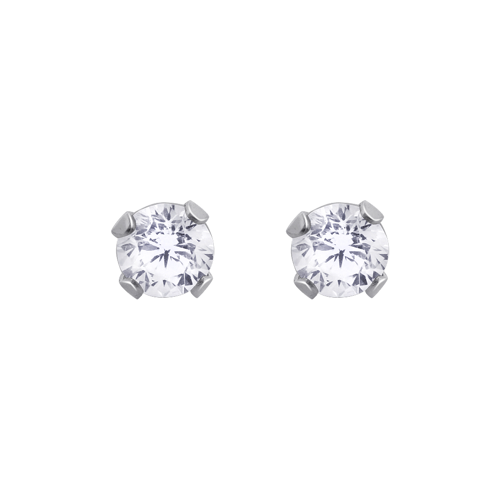 New-925-Sterling-Silver-Cubic-Zirconia-Prong-Set-Round-CZ-Stud-Earrings thumbnail 23