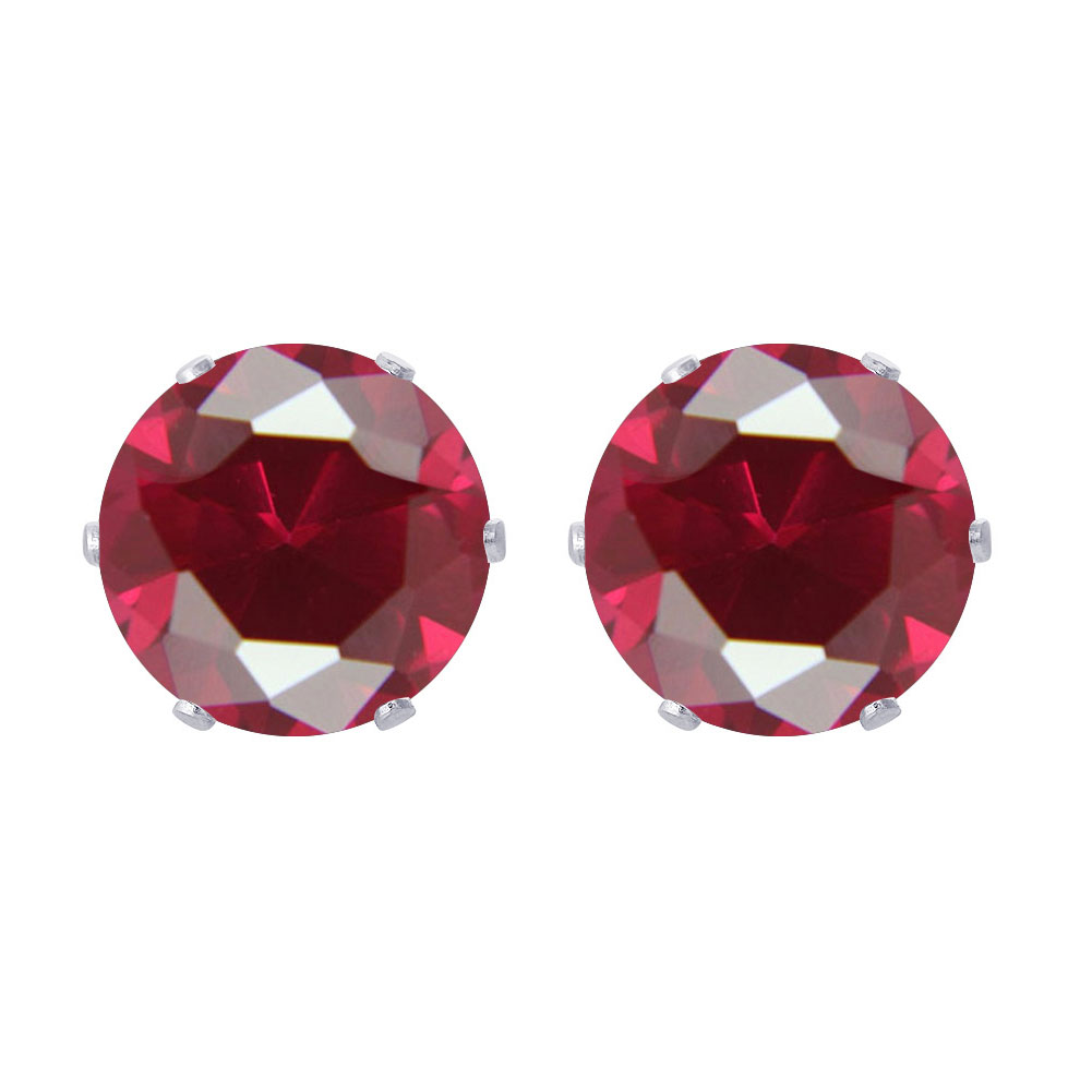 New-925-Sterling-Silver-Cubic-Zirconia-Prong-Set-Round-CZ-Stud-Earrings thumbnail 36