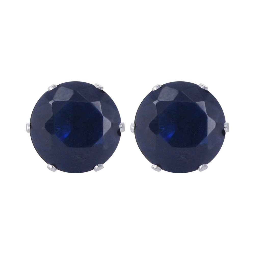 New-925-Sterling-Silver-Cubic-Zirconia-Prong-Set-Round-CZ-Stud-Earrings thumbnail 16