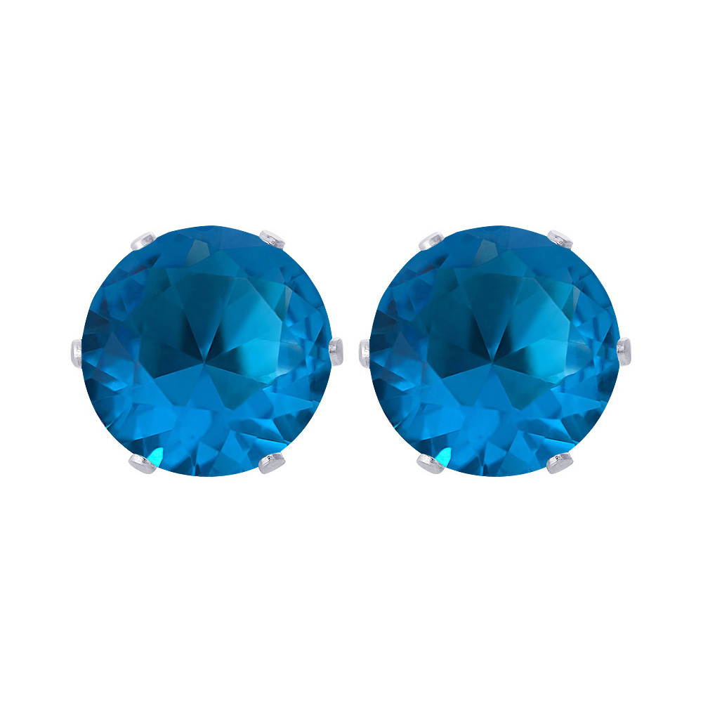 New-925-Sterling-Silver-Cubic-Zirconia-Prong-Set-Round-CZ-Stud-Earrings thumbnail 13