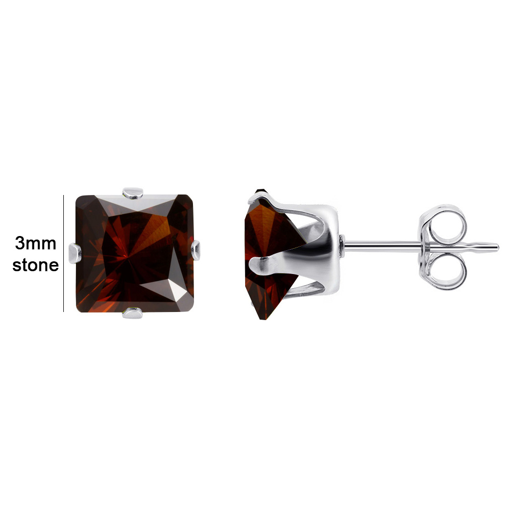 New-925-Sterling-Silver-Cubic-Zirconia-Prong-Set-Princess-cut-CZ-Stud-Earrings thumbnail 16