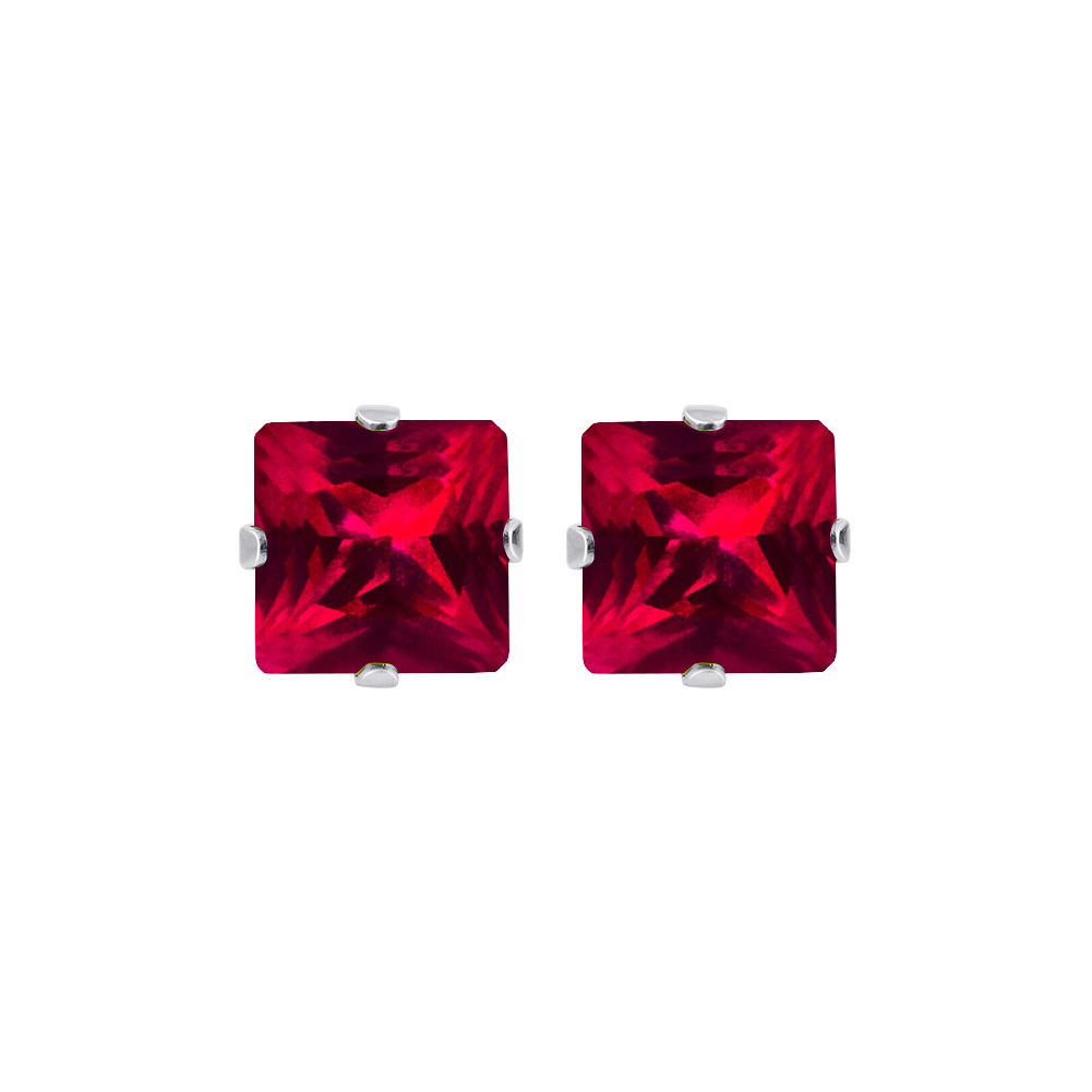 New-925-Sterling-Silver-Cubic-Zirconia-Prong-Set-Princess-cut-CZ-Stud-Earrings thumbnail 27