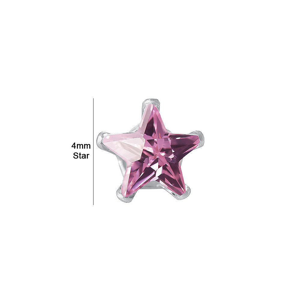 New-925-Sterling-Silver-Cubic-Zirconia-Prong-Set-Star-CZ-Stud-Earrings thumbnail 34