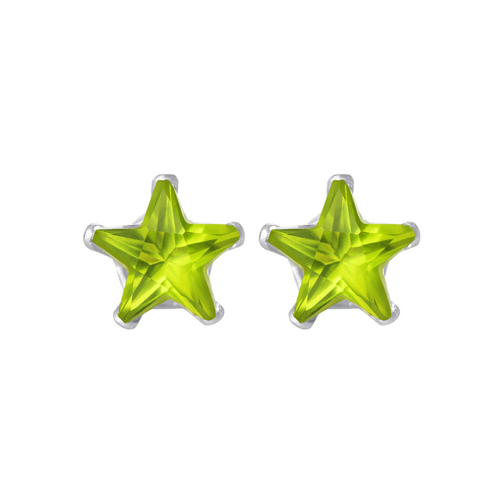 New-925-Sterling-Silver-Cubic-Zirconia-Prong-Set-Star-CZ-Stud-Earrings thumbnail 30