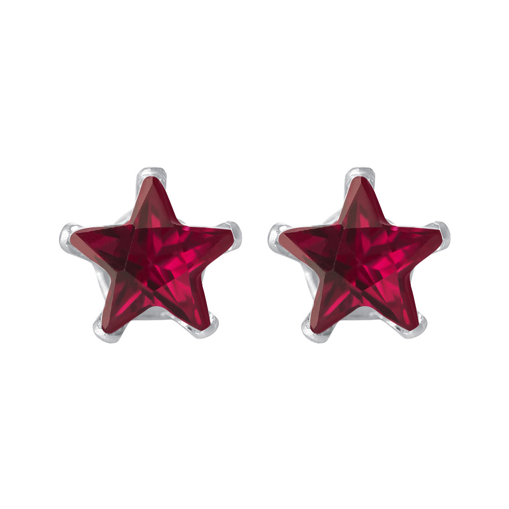 New-925-Sterling-Silver-Cubic-Zirconia-Prong-Set-Star-CZ-Stud-Earrings thumbnail 36