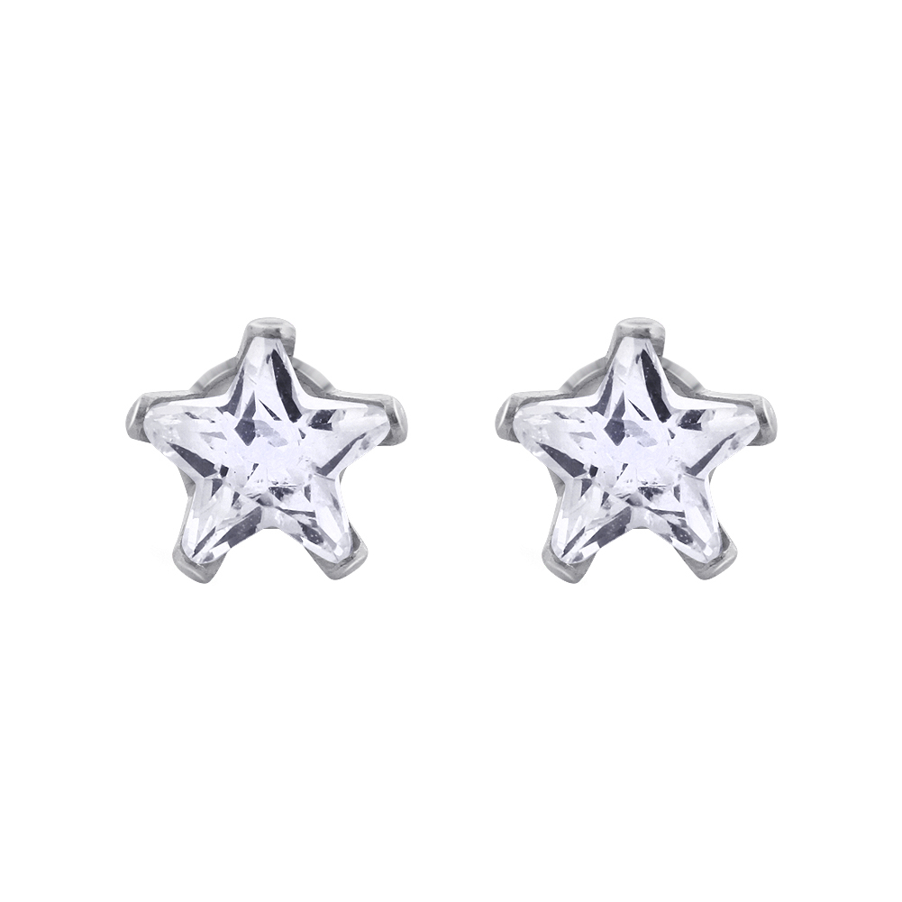 New-925-Sterling-Silver-Cubic-Zirconia-Prong-Set-Star-CZ-Stud-Earrings thumbnail 19