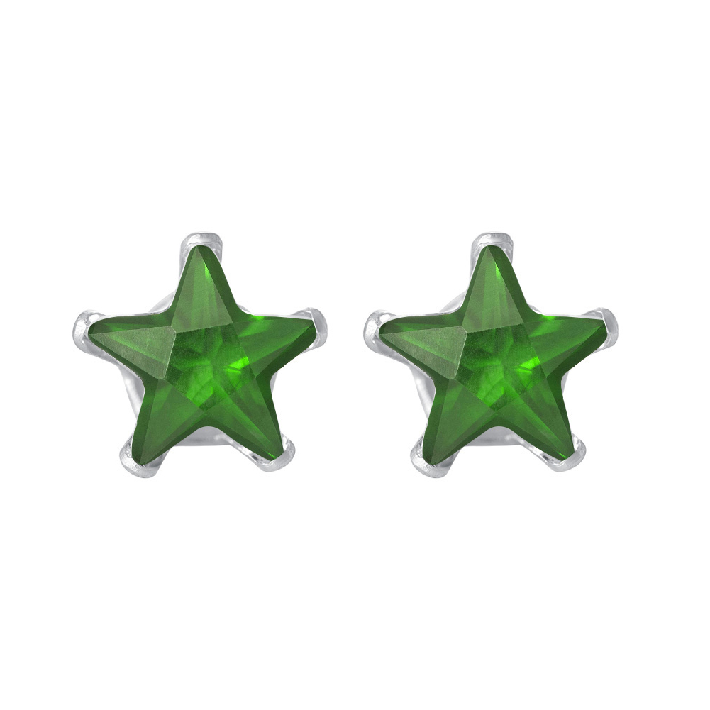 New-925-Sterling-Silver-Cubic-Zirconia-Prong-Set-Star-CZ-Stud-Earrings thumbnail 22