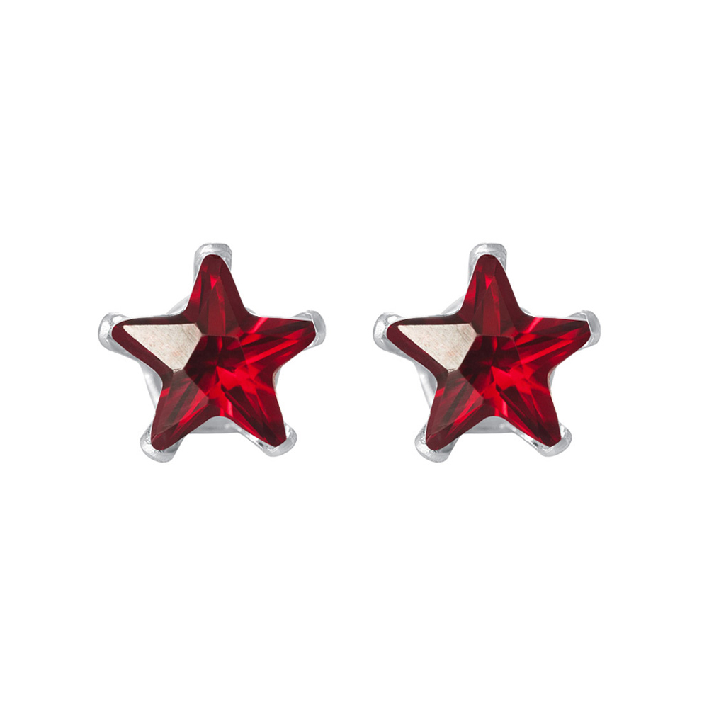New-925-Sterling-Silver-Cubic-Zirconia-Prong-Set-Star-CZ-Stud-Earrings thumbnail 25