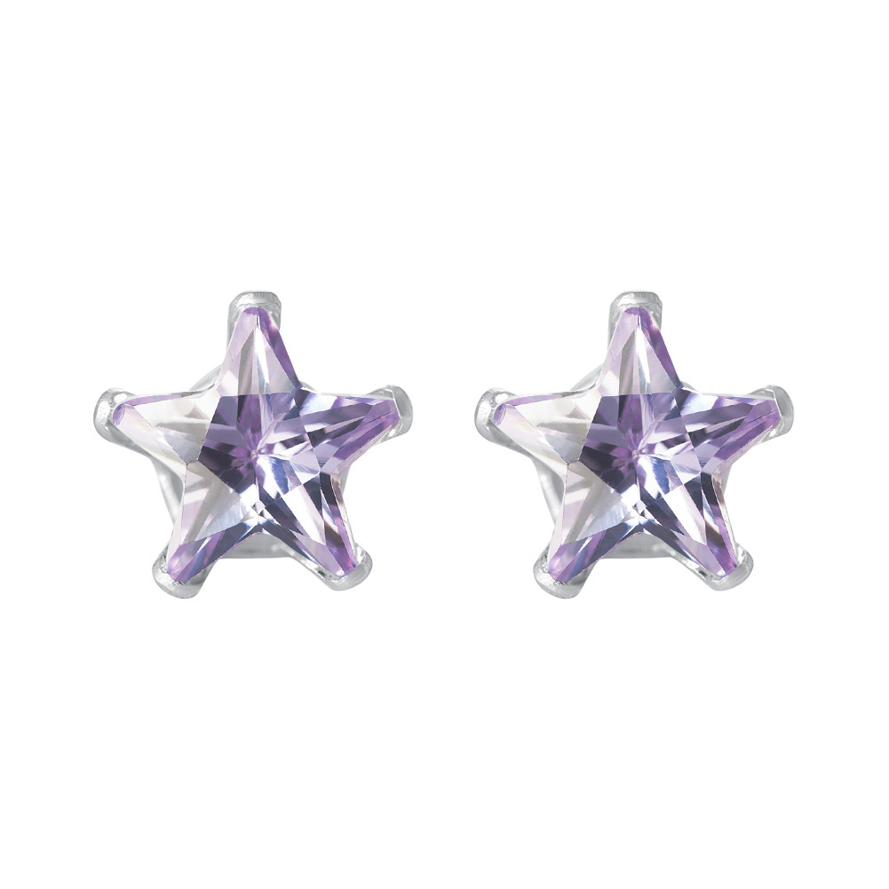 New-925-Sterling-Silver-Cubic-Zirconia-Prong-Set-Star-CZ-Stud-Earrings thumbnail 27
