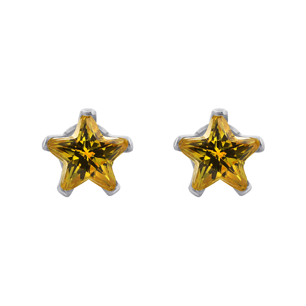 New-925-Sterling-Silver-Cubic-Zirconia-Prong-Set-Star-CZ-Stud-Earrings thumbnail 17