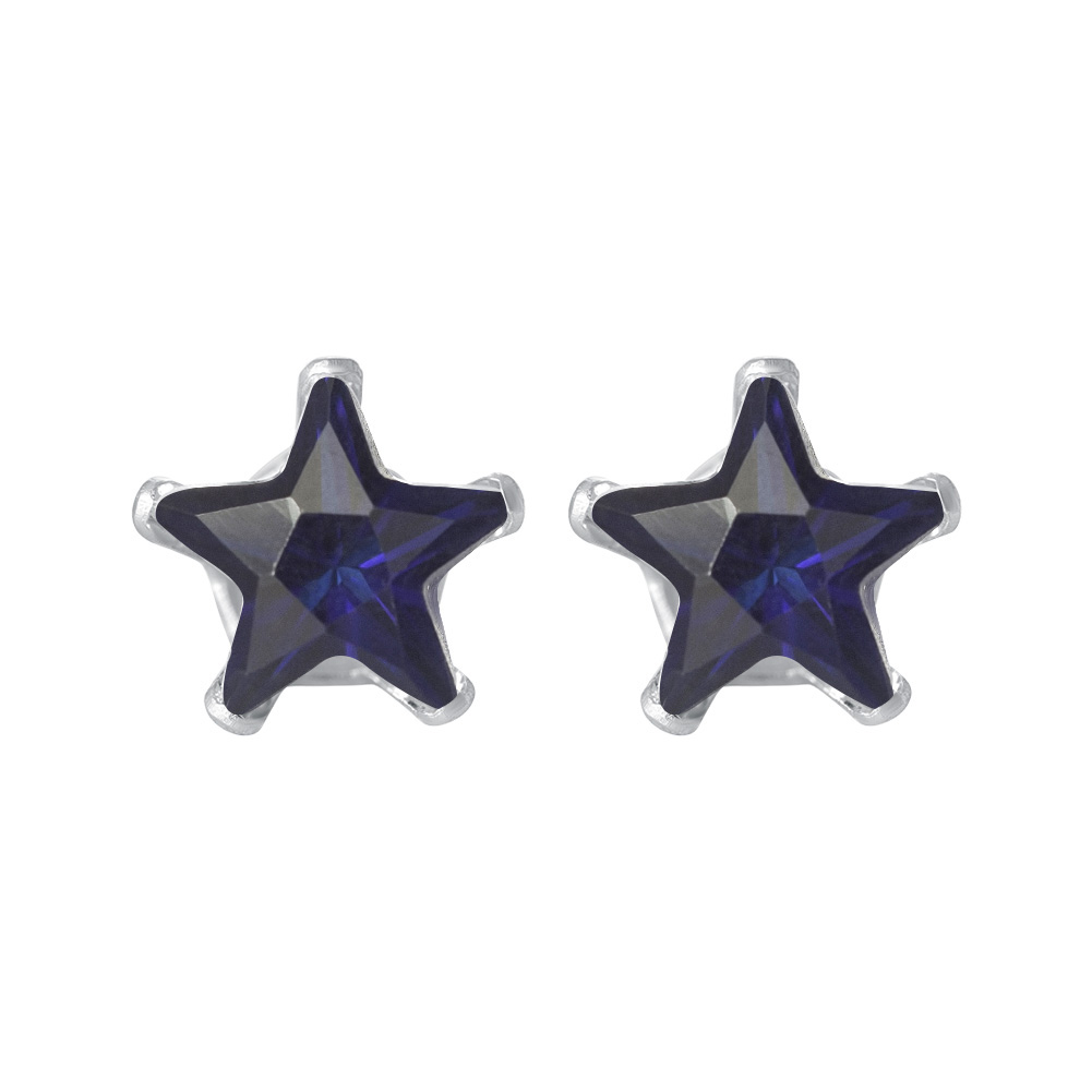 New-925-Sterling-Silver-Cubic-Zirconia-Prong-Set-Star-CZ-Stud-Earrings thumbnail 14