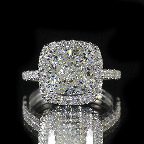 2.15ct GIA 18K White Gold Cushion Diamond Engagement Ring F/VS2 (6155532268)