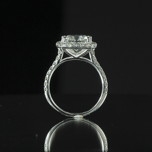 2.15ct GIA 18K White Gold Cushion Diamond Engagement Ring F/VS2 (6155532268) 1