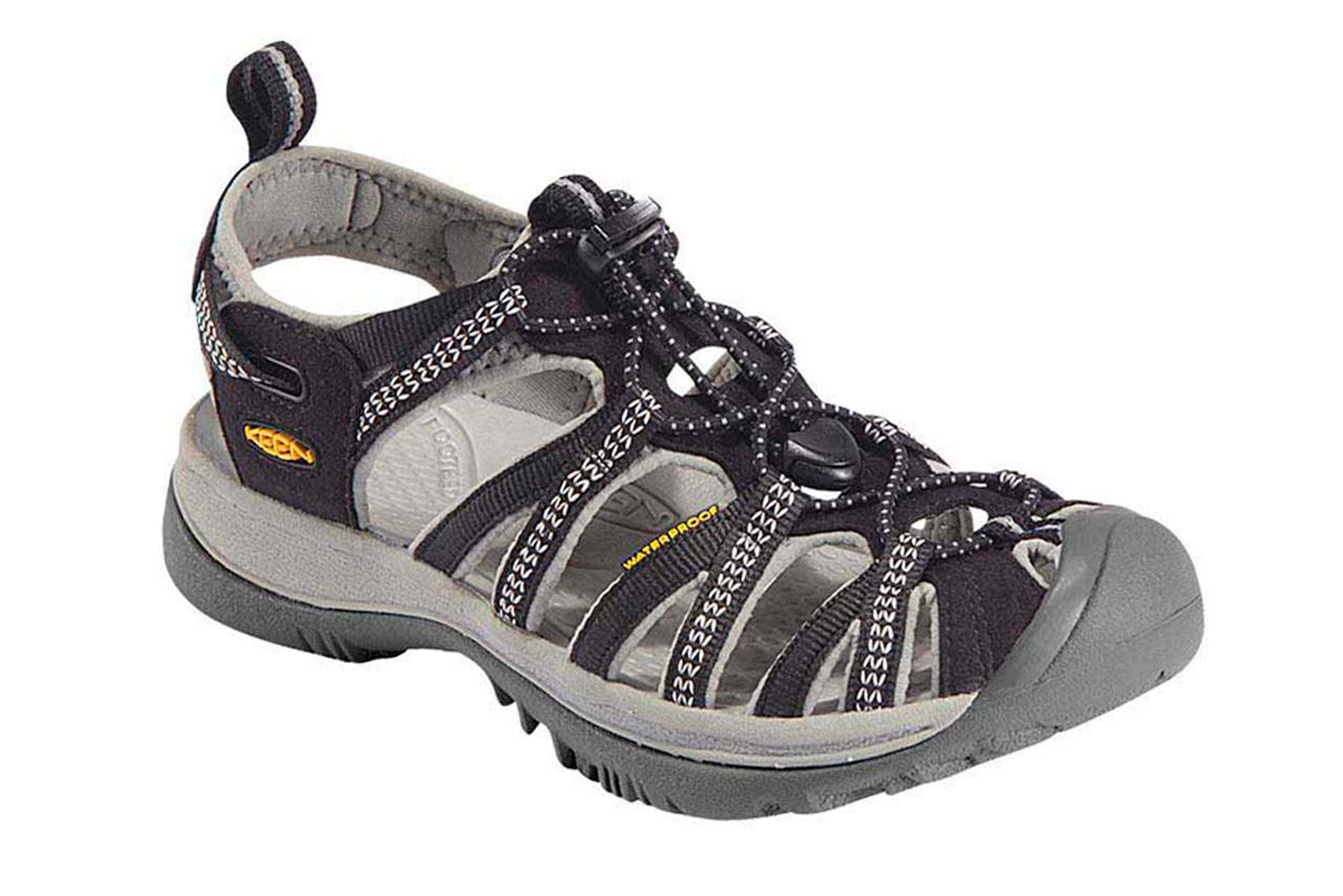 8a00caea1de9 Keen Whisper Black Neutral Grey Ladies Sport Sandals - Black Neutral Grey