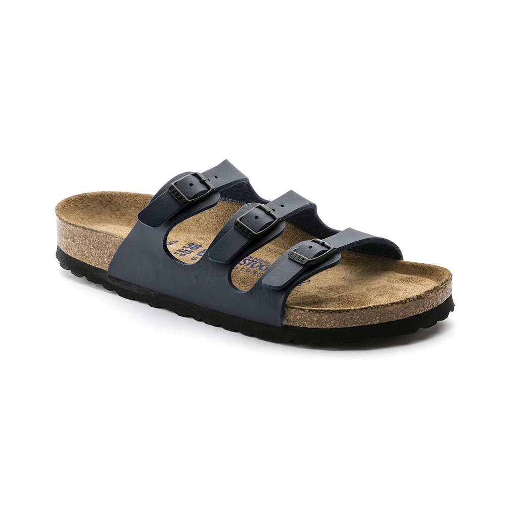 Birkenstock Women's Florida Fresh SF Slide Sandal - Blue | Discount  Birkenstock Ladies Sandals & More - Shoolu.com