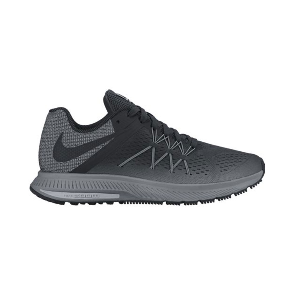 super popular 476af 45bb2 Nike Men s Zoom Winflo 3 Shield Running Shoe - Black   Discount Nike Men s  Athletic   More - Shoolu.com   Shoolu.com
