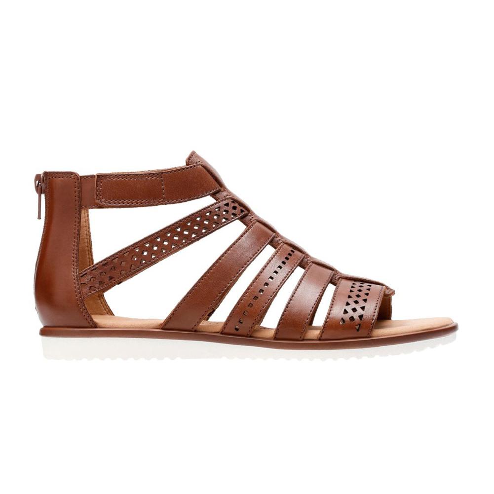 8fab98639159 Clarks Women s Deva Quest Heel Sandal - Brown