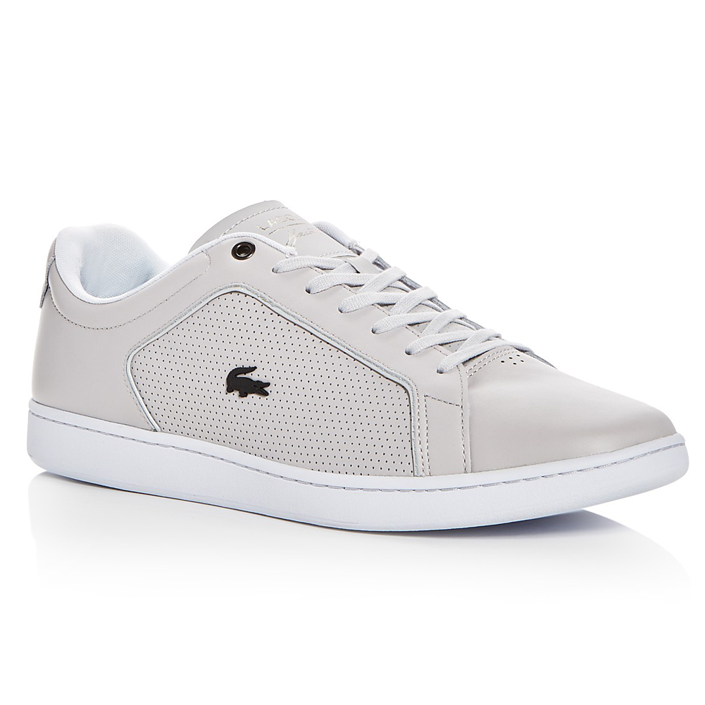 528beb135 Lacoste Women s Carnaby Evo Text Leather Sneaker - Blue