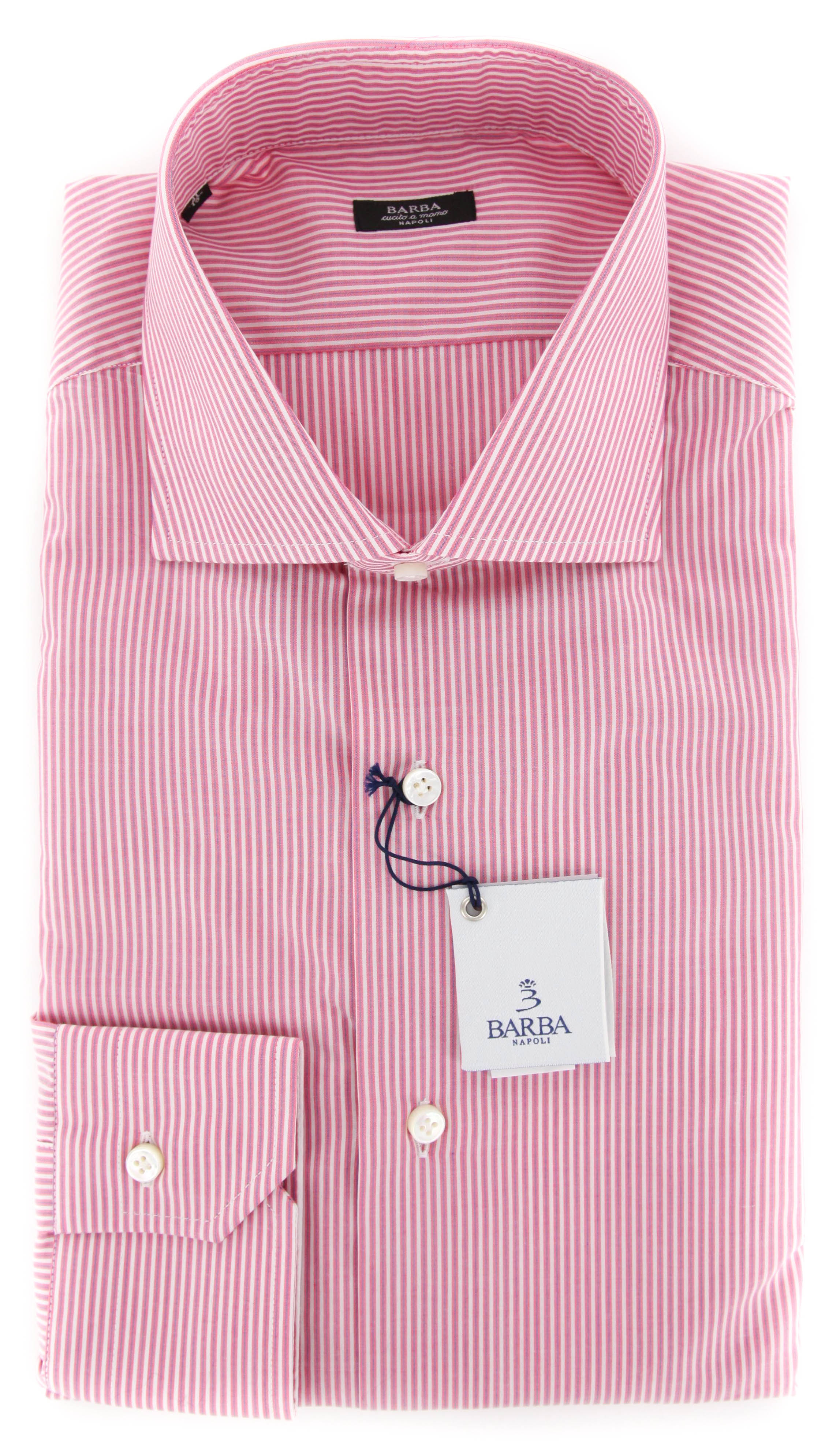 $325 Barba Napoli Red Striped Shirt Extra Slim i1u82u13r