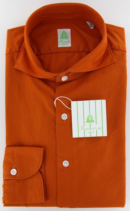 New Finamore Napoli Orange Tie