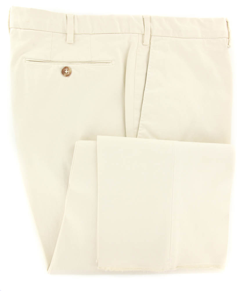New  Incotex Beige Solid Pants - Slim - 44 60 - (1AGW354077617)