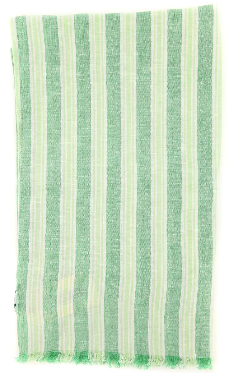 New Luigi Borrelli Green Wool Blend Scarf