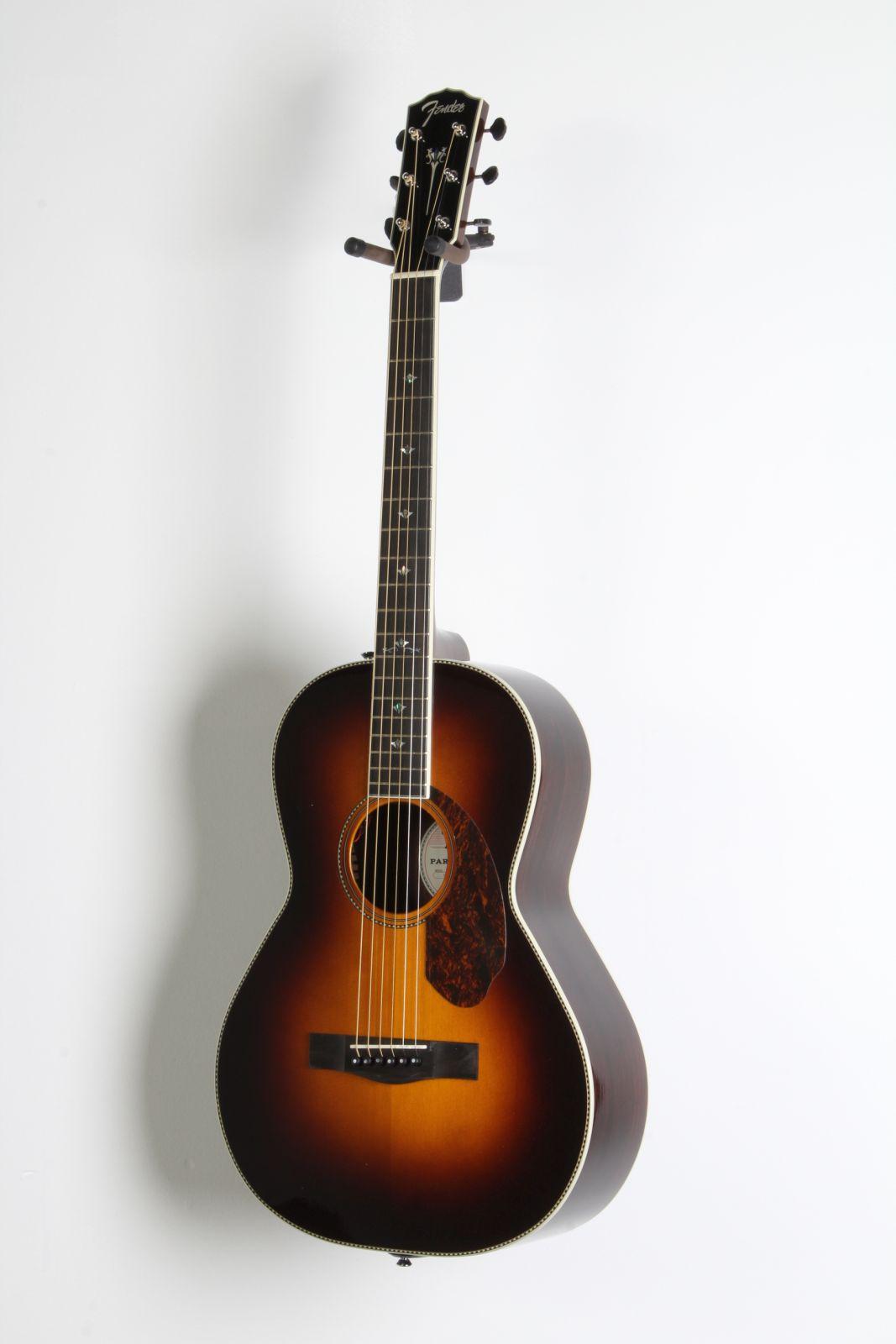 fender paramount series pm 2 deluxe parlor acoustic elec guitar vintage sunbrst ebay. Black Bedroom Furniture Sets. Home Design Ideas