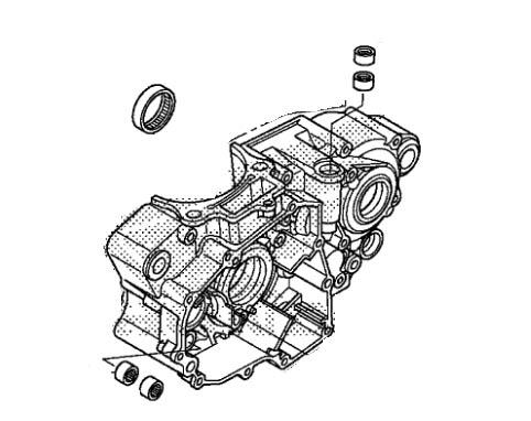 Honda Oem Left Crankcase 2014 2016 Crf250r 14 16 Crf 250r 11200 Krn