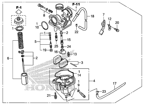 honda oem carburetor 2014 2017 crf125f crf125fb big wheel 16100 k28 rh ebay com Honda Foreman 500 Carburetor Diagram Honda GX390 Carburetor Diagram