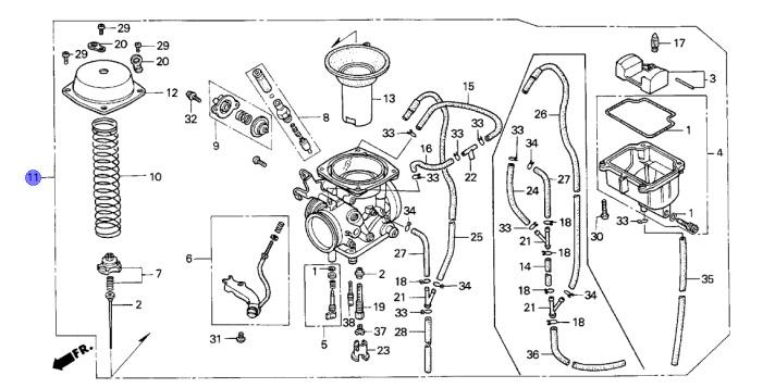 honda oem carburetor xr650l 93 12 16100 my6 772 718174852027 ebay rh ebay com 2003 Honda Rancher Carburetor Diagram Honda Carburetor Troubleshooting